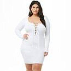 Forever 21 white sweater dress
